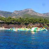 Vesitemppurata Bol beach, Brac saari, Kroatia