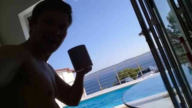 Kahvi, Kroatia ja merinäköala.