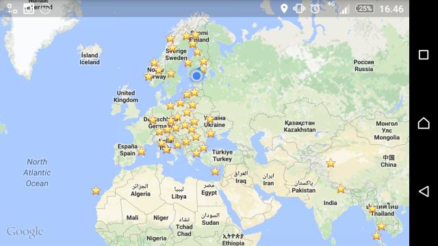 Monessako paikassa olet käynyt? Monessako haluat käydä? Maapistepeli on himoreissaajien peli, missä jokaisesta uudesta maasta saa pisteen.