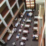 Hotelli Kaiserhof Helioparkin aamiainen ylitti odotukseni. Buffet pöytä oli valtavan pitkä kuten kuvasta näkyy.