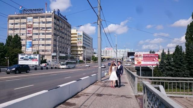 Hääpari. Kaliningrad, Venäjä.