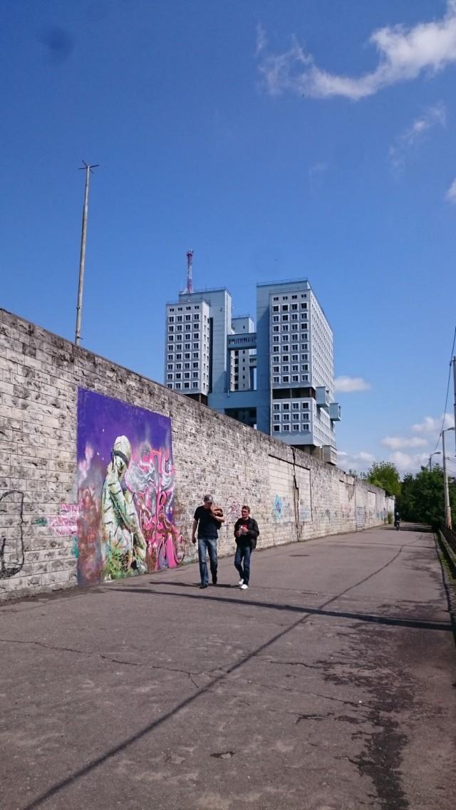 Katutaidetta. Kaliningrad, Venäjä.