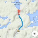 Risslan pato on parin kilometrin päässä Fiskarsin keskustasta.