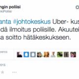 Helsingin poliisi selittää tiukkaa Über-linjaansa