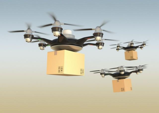 Suurin piirtein tältä saattaisi Postin robottipakettien lento näyttää.