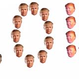 Tee taidetta Donald Trumpin naamalla