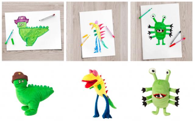 Ikea teki lasten piirroksista pehmoleluja