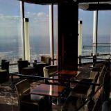 Näköala Dubai At.mosphere ravintolan loungen puolelta.