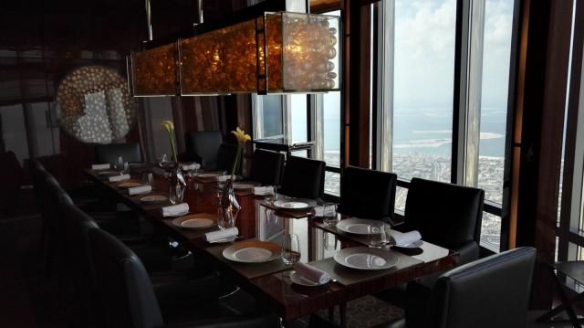 At.mosphere ravintolassa on myös yksityinen kabinetti 14 hengelle.
