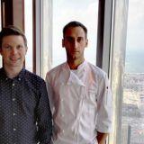Ilkka Lavas ja At.mosphere ravintolan keittiömestari Giorgio Maggioni
