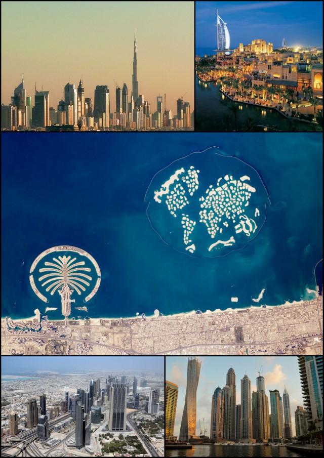 Dubai oli ennen aavikkoa. Nyt turisteja houkutteleva suurkaupunki. (Cc by sa 2.0 Chronus)