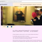 Ylioppilaslehti Pörssiklubin tiloissa. Kutsumattomat vieraat - Kuvakaappaus ylioppilaslehden sivuilta.