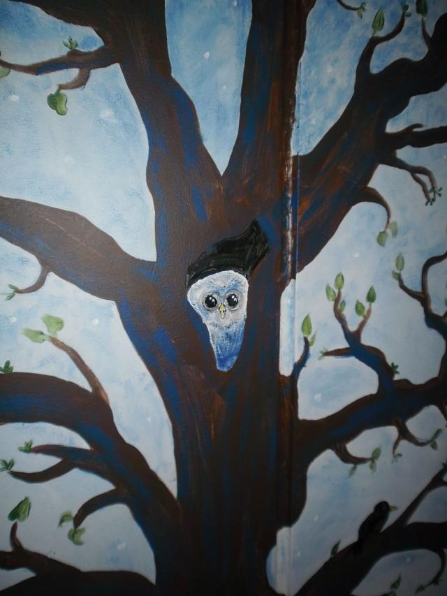 Yksityiskohta seinämaalauksesta, 2013