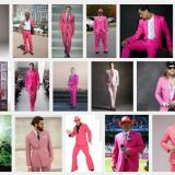 Ja kyllähän pinkki näyttää tosi hyvältä miesten päällä. (Kuvakaappaus)
