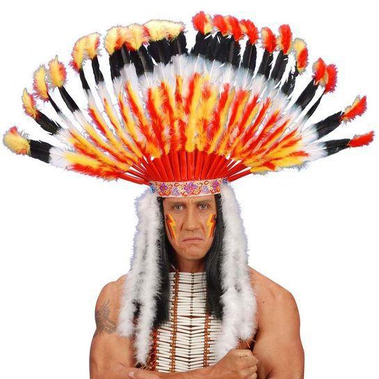"""""""Intiaanipäällikön päähine"""" (kuva: Punanaamio)"""