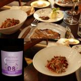 Juran alueelta Champ Divinin Cuvee Pollux Biodynaaminen viini / PERUNATATTARIRIESKAA tattivoilla sekä METSÄSIENISALAATTI, rouskua, kuusenkerkkää, puolukkaa