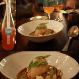 melkein kaksi litrainen Heiwa Shuzo - Tsuru-ume Suppai! / SYYSOMENAA, omenasorbettia, valkosuklaata ja omenaviinietikkakinuskia.