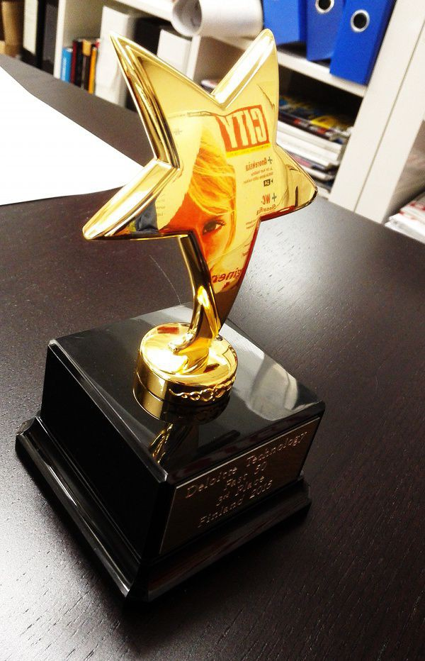 Globaali kilpailu tarkoittaa sitä, että sinun pitää olla parhaiden kanssa ja voittaa itsesi uudestaan ja uudestaan. Kuvassa City Digitalin saama kasvuyrityspalkinto.