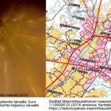 LuxEura piirsi kunnan kartan taivaalle