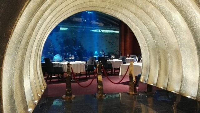 Osteriravintola Al Maharassa on hieno akvaario.