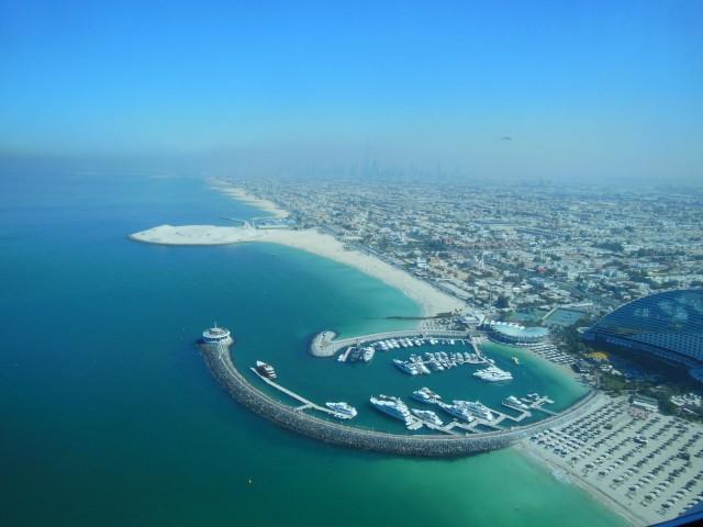Näköala Burj Al Arab hotellista.