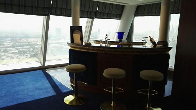 Burj Al Arab, Presidential sviitissä on oma baaritiski ja edustustilat.