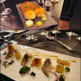 Kolmea eri levitettä, mustaa sekä vaaleaa leipää. / Suolattu & marinoitu silli, perunaa, olut- sekä mustaleipäsipsiä, HERRRKULLISTA sinappia. VIINI: Moët & Chandon Rose Imperial Brut