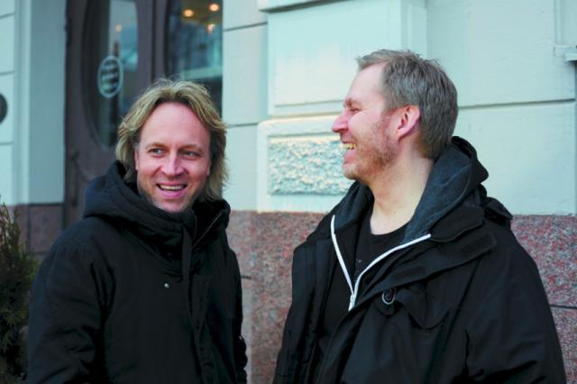 Kari Aihinen ja Paul Hickman.