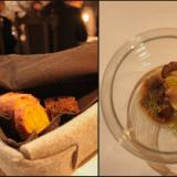 Paikan päällä leivottua vehnäleipää jossa mukana punajuurta, upean väristä sekä makuista. Tummaa maalaisleipää, pinta glaseerattu. / Siilinjärven Siitakesieniä, Miettisen tilan perunaa.