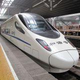 CRH5 tyypin juna. Tämän uudempi versio CRH380BL kulkee jopa 487,3 km/h
