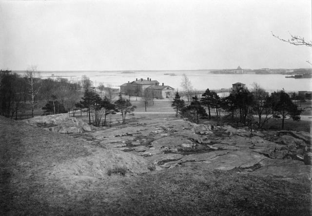 Näkymä Kaivopuistoon vuodelta 1900.