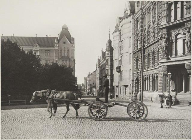 Uudenmaankatu 1916 Kolmikulmasta kuvattuna.