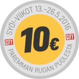 SYÖdään vielä torstaihin asti - Katso 10€ tarjoukset!