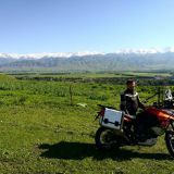 China, Narat National Park, Xingjinag, Ilkka O. Lavas motorbiking in China