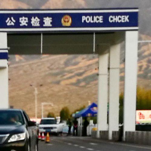 Checkpointilla. Kiina, Xinjiang