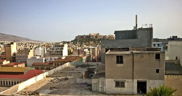 Taustalla Akropolis, onko tämä hieno näkymä?