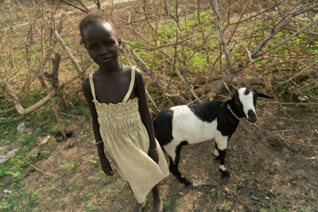 Zeieya & the precious family goat