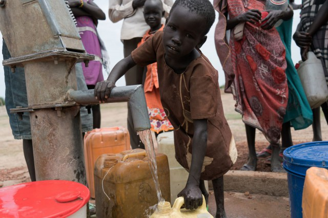Nyahok gathering South Sudan's most precious commodity, water
