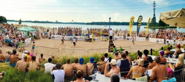 Vuonna 2014 beach volleyta pelattiin Hietsussa.