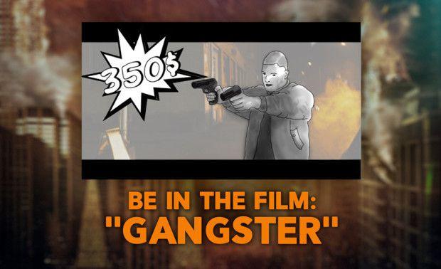 Gangsteriksi 30 dollarilla Volume -elokuvaan. Harvinainen mahdollisuus maailmanluokan elokuvassa.