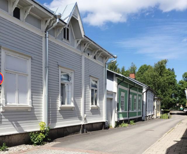 Vanha Rauma puutaloineen on suloinen ilmestys.