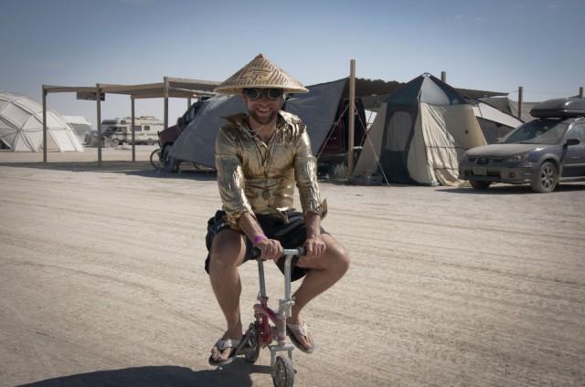 Polkupyörä on Burning Manin suosituin kulkuneuvo.