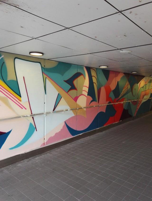 Riihimäen asematunnelin koristeli ruotsalainen Ola Kalnins.