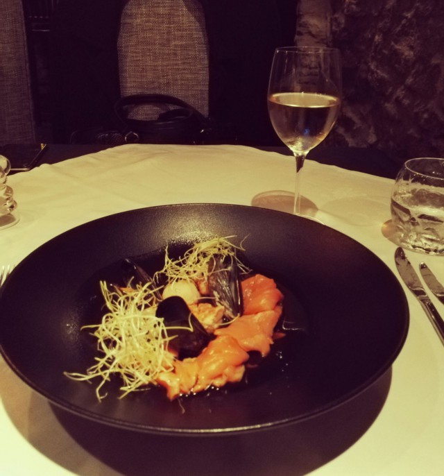 Seafood platter ja Marlborough Sauvignon Blanc