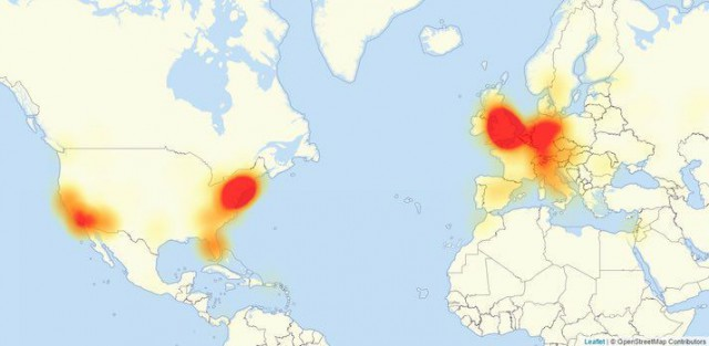 Hyökkäyksessä estettyjä verkkosivustoja on ympäri maailmaa.