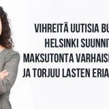 Helsinki harppasi kohti maksutonta varhaiskasvatusta