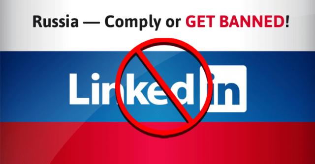 LinkedIn blokattiin Venäjällä.
