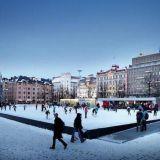 Helsingin Rautatientorin jääpuisto avataan ensi viikolla