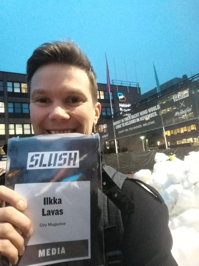IT ja Media alan sarjayrittäjä Ilkka O. Lavas, Slushissa 2016
