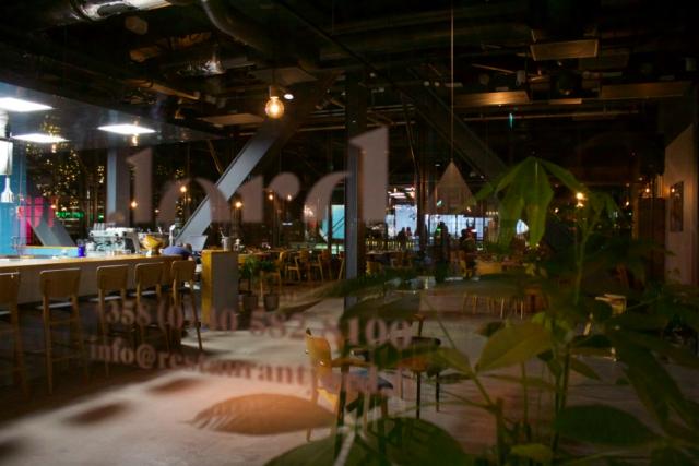 Ravintola Jordin sisustus on huipputyylikäs.